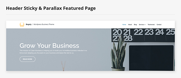 bogaty parallax wordpress theme